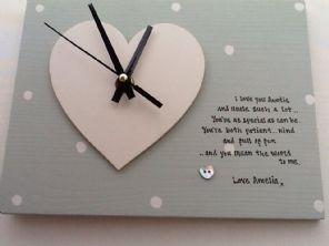 Shabby personalised Gift Chic Clock Special Auntie Uncle Aunty Aunt  Present..